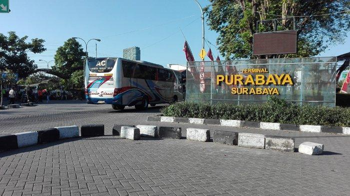 Masuk Terminal Purabaya Surabaya Tak Pakai Masker, Siap-siap Dipulangkan Lagi