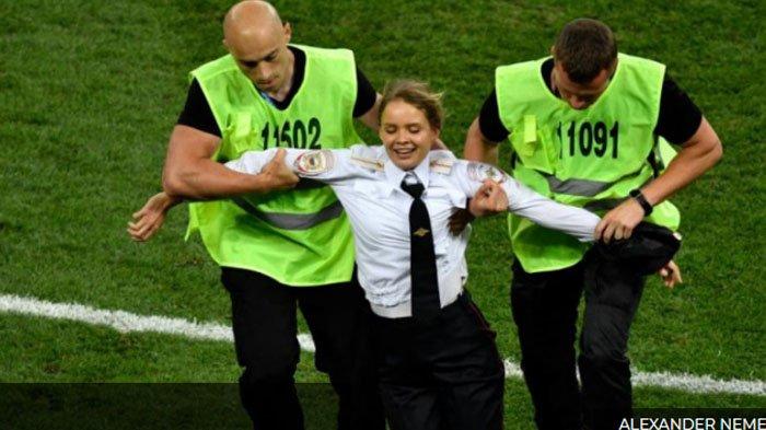 Final Piala Dunia 2018: Bentrok Prancis - Kroasia Diwarnai Penyusup Masuk Lapangan