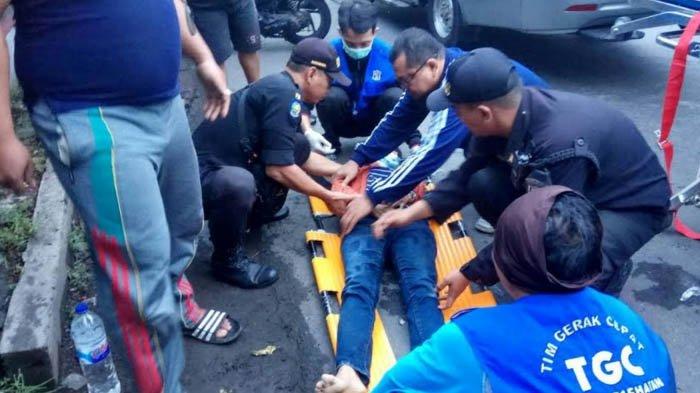 Terjungkal dari Motor Usai Dijambret di Jalan Ngagel Surabaya, Kondisi Wanita ini Memilukan