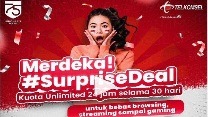 Cara Beli Kuota Surprisedeal Telkomsel Promo Internet Murah Unlimited 30 Hari Cuma Rp 450 Ribu Halaman All Surya
