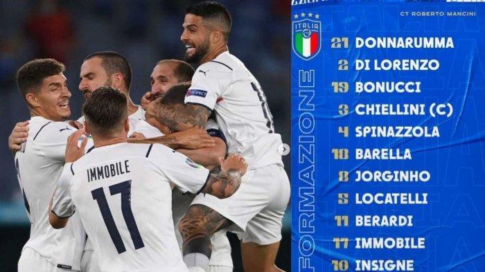 Sedang Berlangsung LIVE RCTI Susunan Pemain Italia vs Swiss: Duet Bonucci-Chiellini Starter
