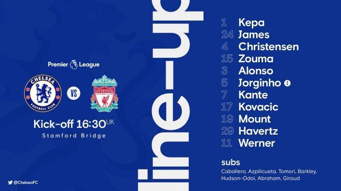 Sedang Berlangsung! Link Live Streaming Chelsea vs Liverpool: Susunan Pemain Resmi, Havertz Bermain