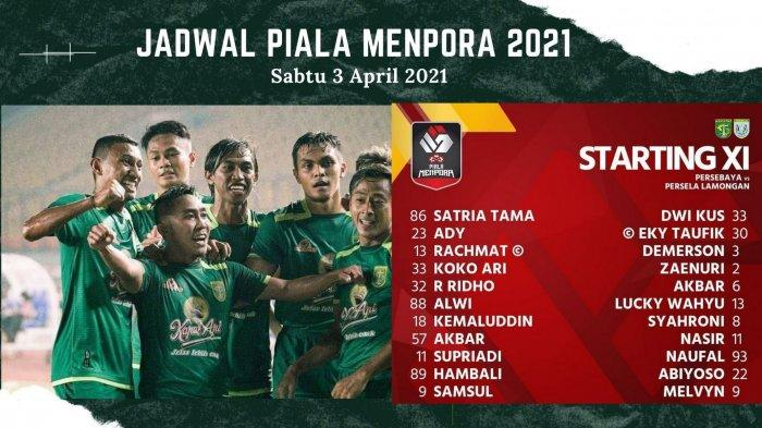 Susunan Pemain Persebaya Surabaya vs Persela Lamongan: Bajul Ijo Selangkah Lagi Masuk 8 Besar