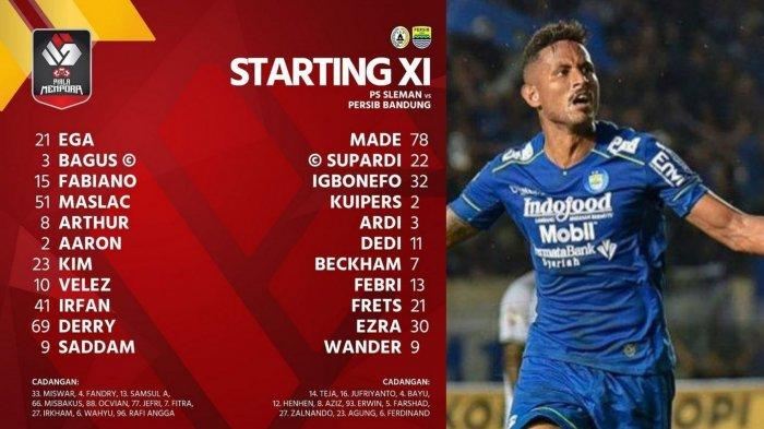 Link Live Streaming dan Susunan Pemain PS Sleman vs Persib Bandung: Wander Luiz Starter