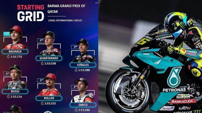 Susunan Pembalap dan Link Live Streaming MotoGP Qatar 2021