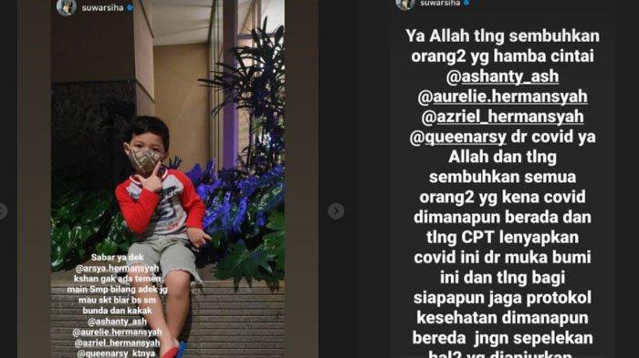 Suwarsih mengunggah curhatan pilu Arsya Hermansyah.