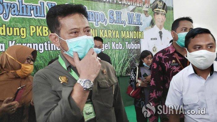 Di Tuban, Mentan Syahrul Yasin Limpo Jelaskan Alasan Pelarangan Beredarnya Jamur Enoki di Indonesia