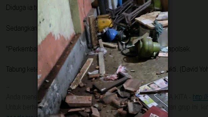 Meledak, Ketel Setrika Sampai Terbang dan Timpa Rumah Tetangga, Salah Satu Anak Sampai Benjol
