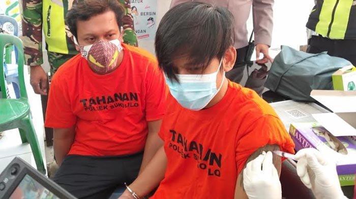 18 Tahanan Polsek Sukolilo Surabaya Dapat Vaksinasi Covid-19, Dikawal Ketat Polisi ke Puskesmas