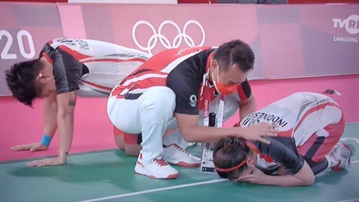 Hasil Final Bulutangkis Olimpiade Tokyo 2020, Tangis Greysia Polii/Apriyani Rahayu Pecah Usai Rebut Emas