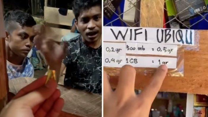 Video Viral, 1 GB Kuota Internet Ditukar 1 Gram Emas di Papua