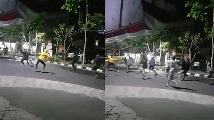 Tawuran Massal Antar Kelompok Remaja di Sukomanunggal Surabaya Sudah Sering Terjadi, Warga Resah