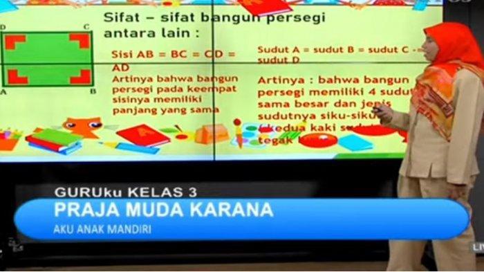 Soal dan Jawaban SBO TV SD Kelas 3 Senin 26 April 2021: Bangun Manakah yang Memiliki 4 Sisi