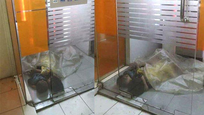 Foto Bocah Tidur Memeluk Adiknya di ATM ini Bikin Warganet Kasihan namun Waspada, wah Ada Apa?