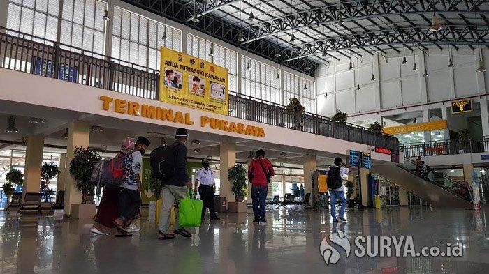 Mulai Pekan Depan, Calon Penumpang di Terminal Purabaya Surabaya Wajib Scan Aplikasi PeduliLindungi