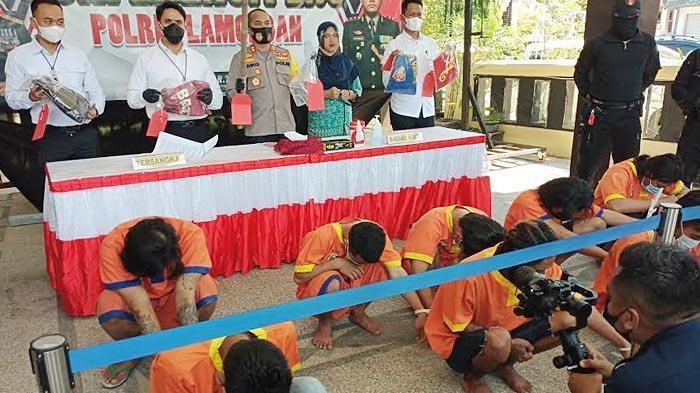 Preman Libatkan Anak-anak Diringkus di Lamongan, Anggota Polisi Juga Jadi Korbannya