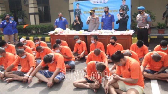 Operasi Tumpas Narkoba Polres Kediri Kota, Ungkap 15 Kasus dan Tangkap 20 Tersangka