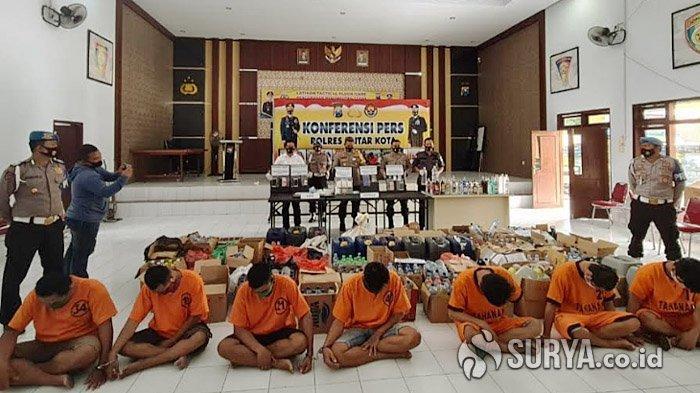 Gelar Operasi Cipta Kondisi Jelang Pilkada, Polres Blitar Kota Bekuk 7 Pengedar Narkoba
