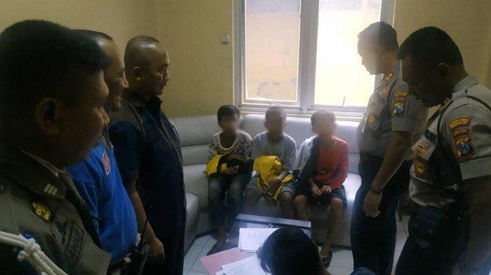 Bawa Celurit dan Parang, Tiga Bocah Tertangkap Saat Hendak Tawuran di Ngaglik Kapasari Surabaya