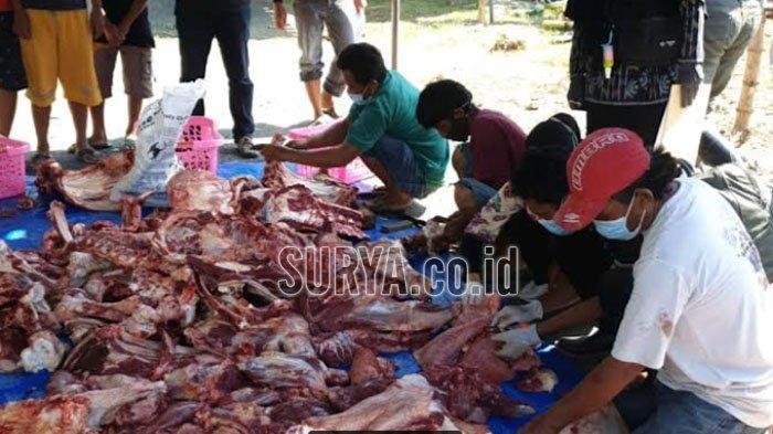 Tim DKPP Kota Kediri Periksa Daging Hewan Kurban, Pastikan Sehat dan Aman untuk Dikonsumsi