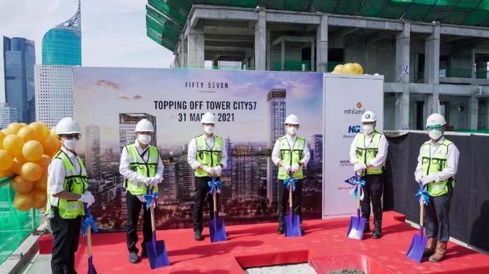 Intiland Gelar Topping Off Apartemen Fifty Seven Promenade di Jakarta Pusat