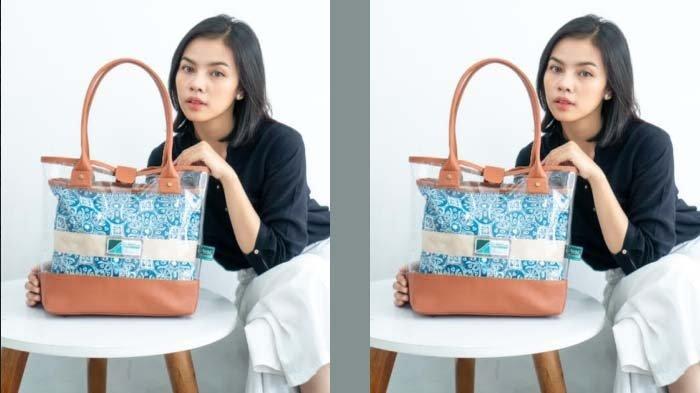 Warga Sidoarjo Bikin Tas Casual Perpaduan Batik, Kulit, dan Plastik