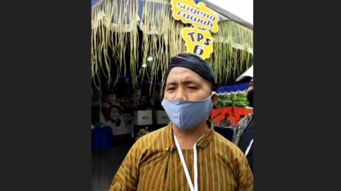TPS Unik di Sidoarjo, Warga Disambut Petugas Berpakaian Adat Jawa dan Pulang Membawa Doorprize
