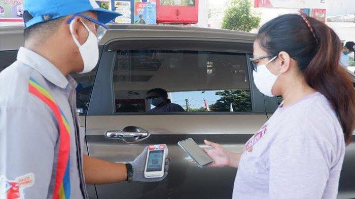 Dua Pekan Uji Coba, Transaksi Non Tunai di SPBU Kota Surabaya Meningkat Lima Kali Lipat