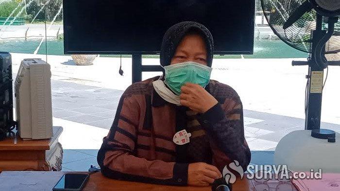 Wali Kota Surabaya, Tri Rismaharini saat ditemui di Balai Kota, Sabtu (18/7/2020).