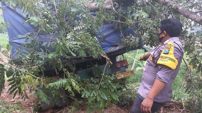 Aksi Heroik Sopir Truk di Blitar Selamatkan Diri, Setelah Bergelantungan di Tepi Jurang - truk-tronton-di-blitar-masuk-jurang-12.jpg