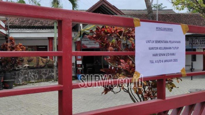 Lurah Meninggal dengan Status Suspect Covid-19, Kantor Kelurahan Gedog Kota Blitar Tutup Sementara