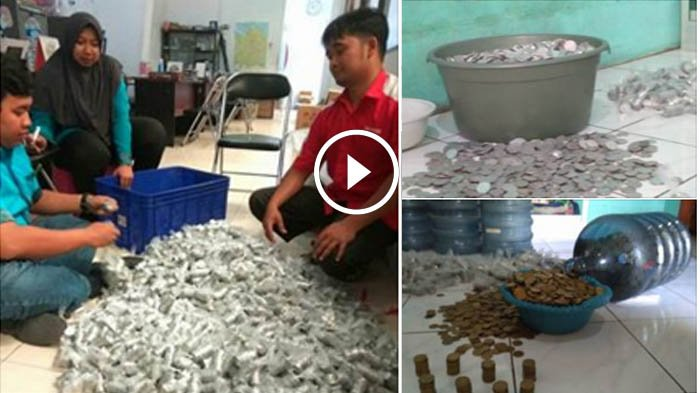 VIDEO: Wow. .  dari Uang Recehan, Wanita ini Kumpulkan Rp 60 Juta, Caranya Tak Biasa dan Bikin Iri