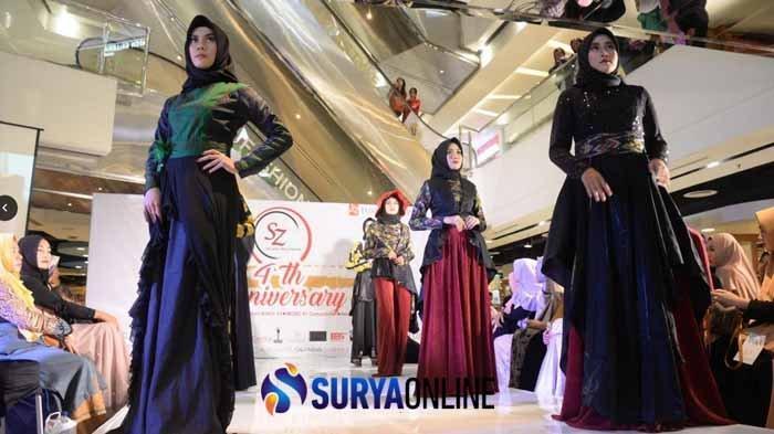 Ulang Tahun Ke-4, SZ Model Management Peragakan Koleksi Muslim Sutra Makassar Karya Dhyani Prima