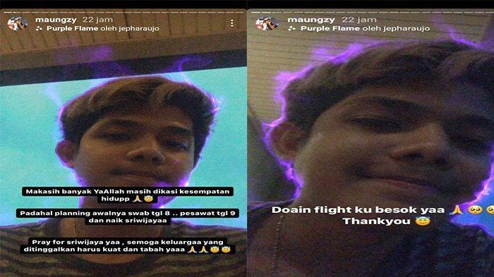Unggahan Ahmad alias Maugzy di Instagram