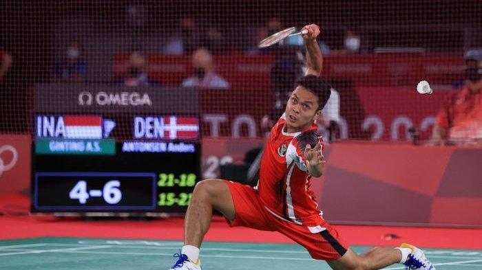 Hasil Bulutangkis Olimpiade Tokyo, Ungkapan Anthony Ginting Usai Gagal ke Final Dijegal Chen Long