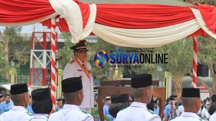 Plt Wali Kota Blitar Santoso Jadi Inspektur Upacara Peringatan HUT Kemerdekaan RI ke-74