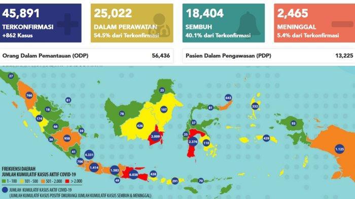 Update Corona Indonesia 21 Juni 2020 Jatim Tambah 91 Kasus Covid 19 Total Hari Ini 9542 Surya