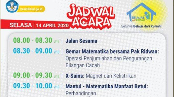 Update Link Live Streaming TVRI Program Belajar di Rumah Hari ini 14 April 2020, Berikut Jadwalnya