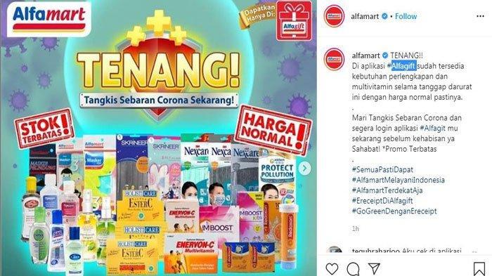 Update Promo Indomaret Alfamart Bisa Beli Masker Hand Sanitizer Via Online Begini Caranya Surya