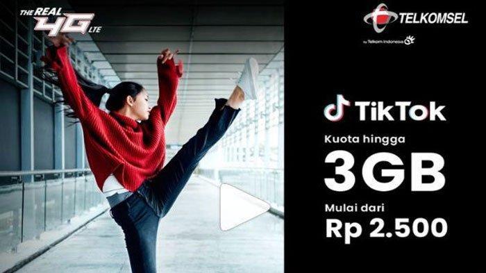 Update Promo Telkomsel Hari ini 16 Juli, Kuota hingga 3 GB Bebas Main TikTok, Harga Mulai Rp 2500
