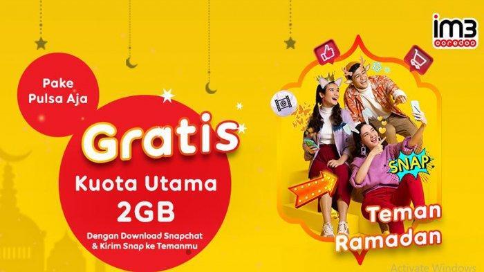 UPDATE Terbaru Kuota Internet Gratis Indosat Ooredoo Ramadan 2021, Dapat 2 GB Cuma dengan Snapchat