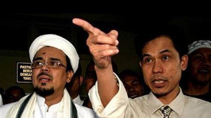 Munarman dan Habib Rizieq Shihab. Update terbaru nasib uang Munarman eks Sekum FPI yang dibekukan pemerintahan Jokowi ada di artikel ini.
