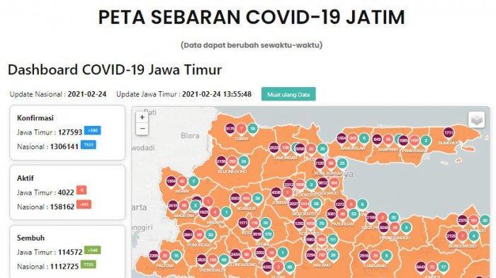 Update Virus Corona di Surabaya Kamis 25 Februari 2021 Naik 53, Hasil PPKM Mikro Nol RT Zona Merah