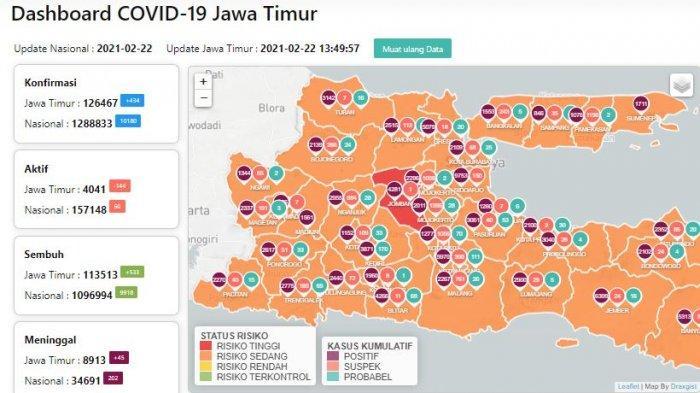 Update Virus Corona di Surabaya 23 Februari 2021 Naik 47, PPKM Mikro Diperpanjang Hingga 8 Maret