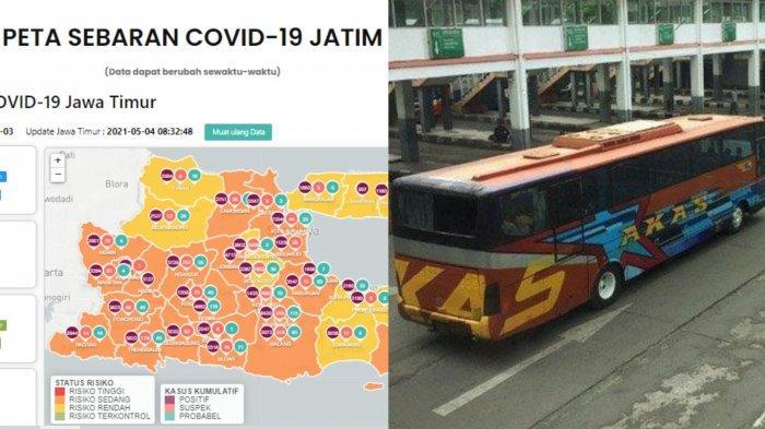 Update Virus Corona di Surabaya 4 Mei 2021 & Imbas Larangan Mudik, Bus Tidak Beroperasi 6-17 Mei