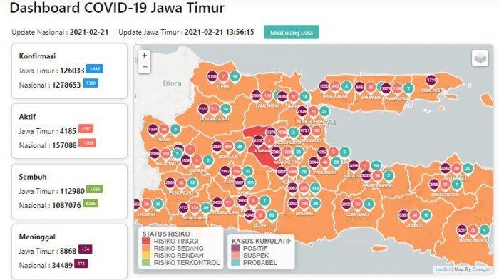 Update Virus Corona di Surabaya 22 Februari 2021 Naik 51, Gubernur Khofifah Ungkap Hasil PPKM Mikro