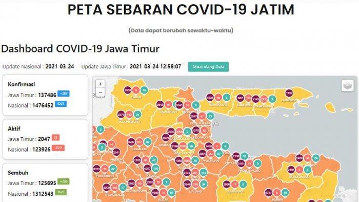 Update Virus Corona di Surabaya 25 Maret 2021 & Hasil PPKM Mikro di Jatim 16 Wilayah Zona Kuning