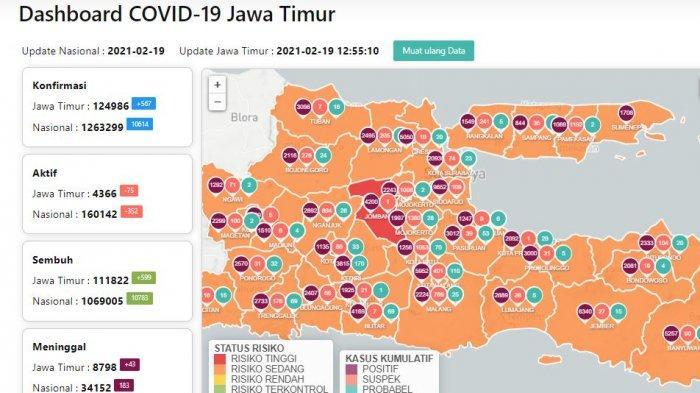 Update Virus Corona di Surabaya 20 Februari 2021 Naik, PPKM Mikro Berhasil Tinggal 1 Zona Merah