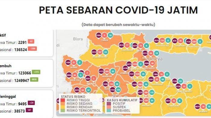 Update Virus Corona di Surabaya Selasa 16 Maret 2021, Efek PPKM Mikro & Pesan Gubernur Khofifah