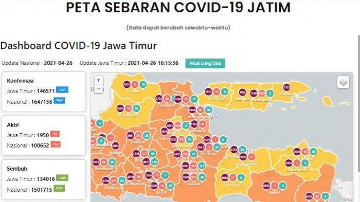 Update Virus Corona di Surabaya Selasa 27 April 2021 & Larangan Takbir Keliling Malam Idul Fitri